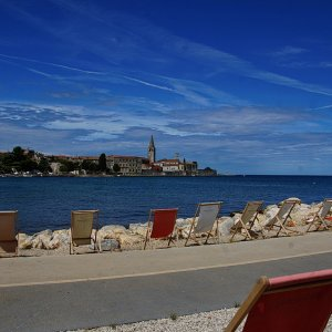 Istrien: Porec > Cocktailbar mit Skyline